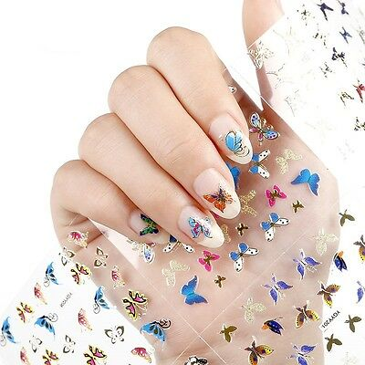 ❤️nouveau (150) Stickers 3D Bijoux Pour Ongles Water Decals Stickers Nail Art