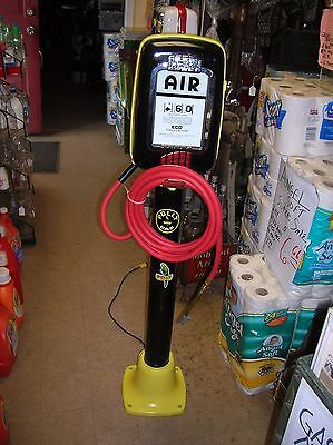 Eco Air Meter-  Restored In Polly Gas  Colors, With Pedestal/insp Door 1950,s