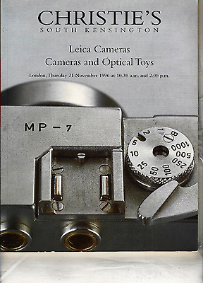 1996 CHRISTIE'S LEICA  CAMERAS &  Optical Toys South Kensington Auction Catalog