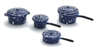 Blue #IM65071 Dollhouse Miniatures 1:12 Scale Spatter Frying Pan