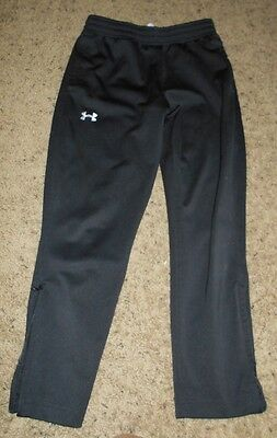 Under Armour Youth Loose Fit Black Warm Up Pant Size Youth L