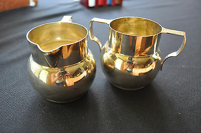 Vintage Wallace Sterling Silver Cream and Sugar Set