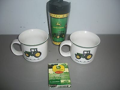 Collectible John Deere Mugs Cards Drinking Cup