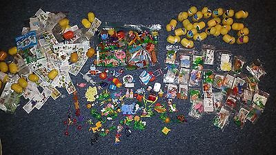 150+ KINDER EGG Surprise Toys - Some assembled, some still in egg, most w/ paper