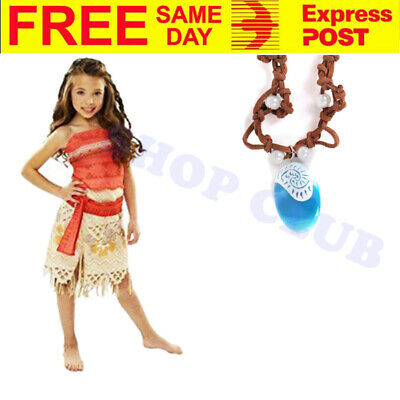 5 Piece Moana Deluxe Child Polynesia Princess Party Dress Bookweek Girls Costume