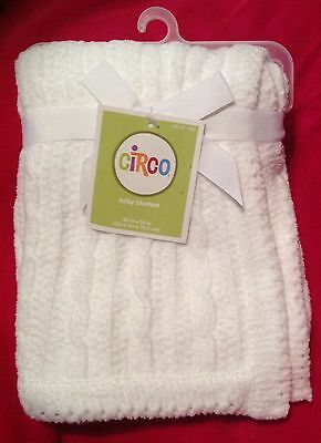 Circo Target White Baby Blanket Chenille Cable Knit Security Lovey *NWT* NEW