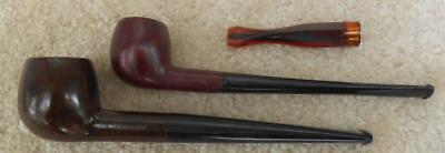 2 Vintage PIPES and celluloid CIGARETTE HOLDER