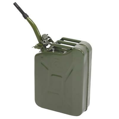 New 20L Jerry Can Metal Tank for Dissel Oil Fuel Container Travel Outdoor Green