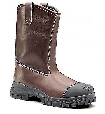 REDUCED Blundstone Chestnut WR Leather High Leg 'riggers' Work Boot 996 #737168