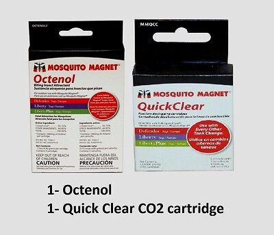 Octenol & Quick Clear Cartridges 3 Pack of each NEW! for Mosquito Magnet