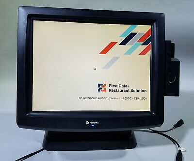 Posiflex First Data TP-8315e  POS Terminal with Power Supply and Card Reader