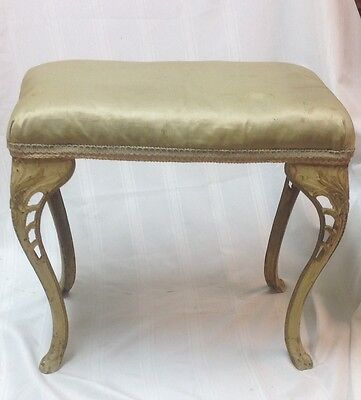 "Antique /Vintage Piano/Vanity Bench,Stool-Cast Iron Ornate Legs-21L"" X 12"" X 10h"