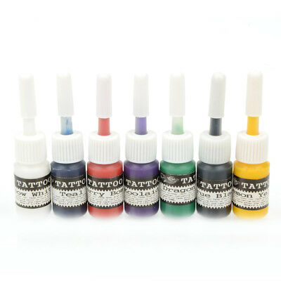 l'encre de tatouage permanent 7pcs pigments multi - couleurs 5ml