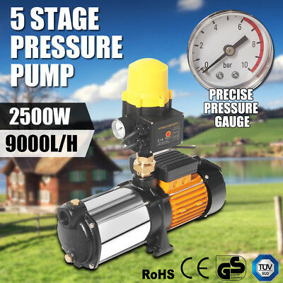 Multi Stage Water Pump High Pressure Rain Tank Garden House Irrigation 2500W