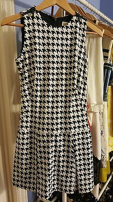 da6b3fa2580 MICHAEL MICHAEL KORS  150 NWT Houndstooth Ecru Sleeveless Dress Size ...