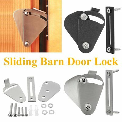 Pull Door Black/Silvery Solid Cast Cron Sliding Barn Door Gate Lock Door Latch