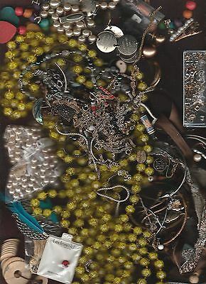 Large Junk Jewelry Lot For Parts Repair Arts Crafts Whatever About 30 Pounds