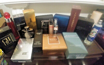 Men's Cologne 10ml Decant Samples. Sauvage, Mont Blanc, Eros, 1 Million  + More