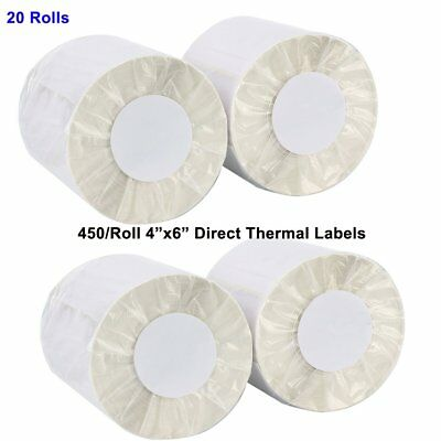 10 Rolls 250/Roll 4x6 Direct Thermal Shipping Label For Zebra Eltron USPS Paypal