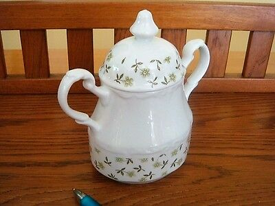 Vintage Sterling Colonial J & G Meakin England Ironstone Tea Jar Or Sugar Bowl