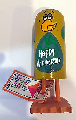 Popsie Wooden Pop Up Original 1960's Figure With Tag - You Never Lose The Trill!