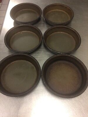 "Pizza Hut Deep Dish Pizza Pans 6"" Personal Pan Pizza Size Seasoned Very Well"