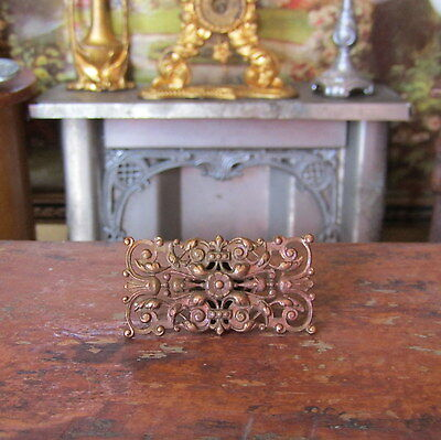 Antique VICTORIAN ART NOUVEAU Dollhouse Copper Ceiling Chandelier Piece FRANCE