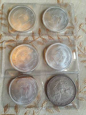 (6) 1oz Silver Coin Authentic Great investment 6oz