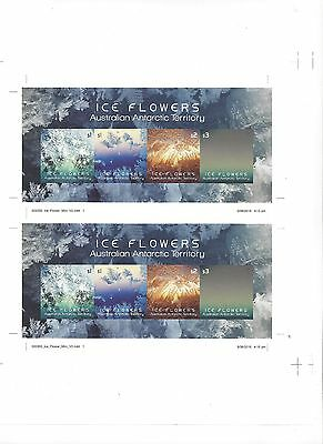 A.A.T 2017 Ice Flowers Imperforated sheet of 2 Mini sheets