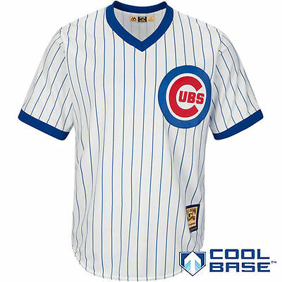 Majestic MLB Chicago Cubs Cool Base Cooperstown Jersey – White / Royal