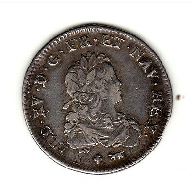 LOUIS XV 1/3 ECU de  FRANCE 1720 A