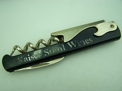 "Advertising pen pocket knife, corkscrew, opener ""Kaiser Stuhl Wines""        1198"