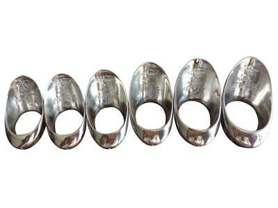 Chinese Stainless Steel Silver Archer's Thumb Ring Protective Finger Guard