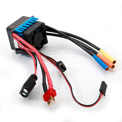 60A 2-3S Brushless Waterproof ESC with BEC 5.8V/3A for 1/10 Racing Car