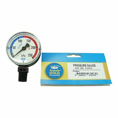 New Pool Filter Pressure Gauge Side Mount Aussie Gold Eco - Sand & Cartridge Fil