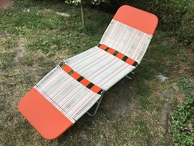 KURZ Germany camping chair lit de camp transat scoubidou retro vintage 1960