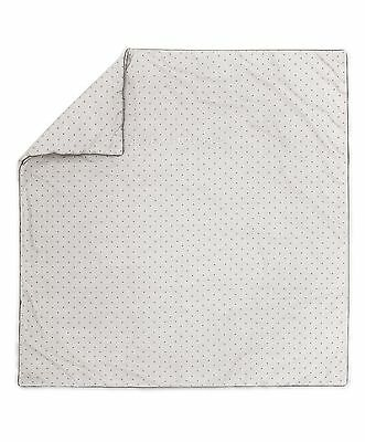 Mamas and Papas Grey Star Cotton Unisex Cot / Cot Bed Coverlet Duvet