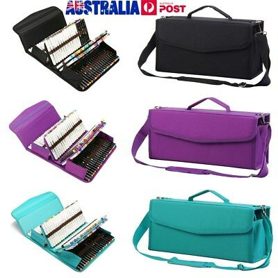 Portable 120 Slots Carrying Art Sketch Marker Pen Storage Bag LARGE Holders Case