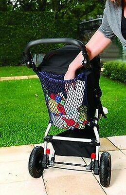 Dreambaby Stroller Bag Net - conveniently holds baby's things within easy reach