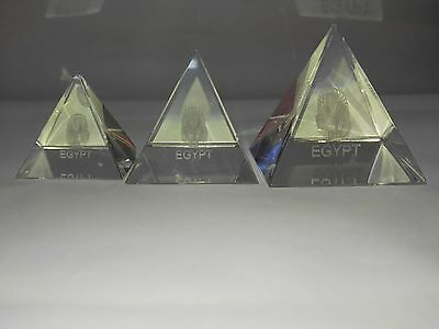 "egypt Glass Pyramid transparent quartz Crystal ""soft,Optic Glass BK7,Polished"""