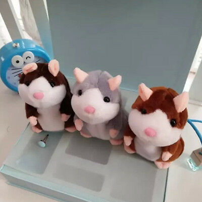 SALE~ Talking Hamster Mouse Records Speak Kids Nod Mimicry Repeat Pet Plush Doll