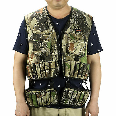 Tactical Hunting Combat Molle Vest Shells Backpack Holder Military Shooting Camo
