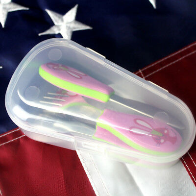 Baby Toothbrush Teether Spoon Soother Pacifier Travel Storage Case Box Holder