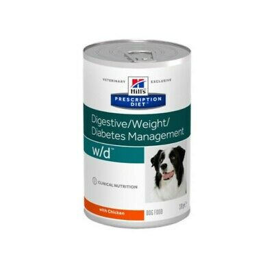 HILL S prescription diet w/d canine mangime umido 12 lattine da 370 gr.