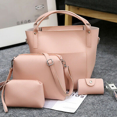 4Pcs/Set Fashion Women Lady Bag Handbag Shoulder Messenger Satchel Tote Purse