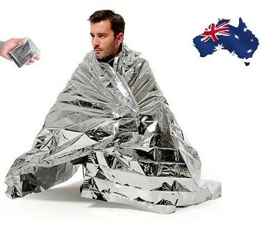 1x Space Blanket Thermal Emergency Survival Camping Rescue Foil First Aid Tent