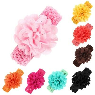 Infant Kid Girl Baby Flower Headband Elastic HairBand Hair Accessories Headwear