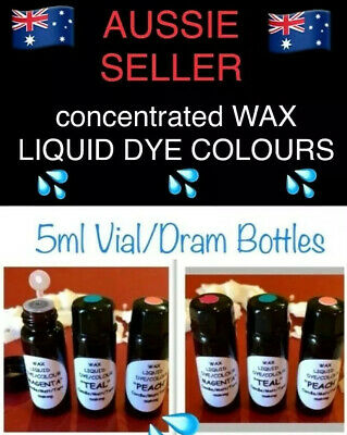 "WAX LIQUID ""DYE COLOURS""~CANDLE/MELT/TART MAKING~SUPER CONCENTRATED 5ml bottles"