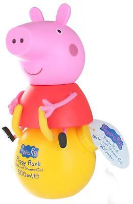 Peppa Pig 3D Bath/Shower Gel & Bubble Bath Piggy Bank 300ml