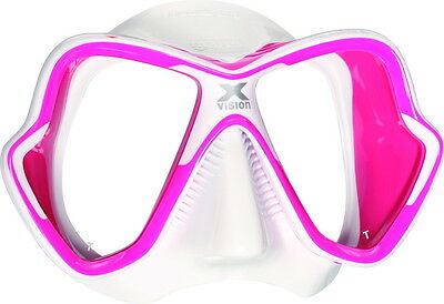 Mares X-Vision Liquid Skin Diving Mask Snorkeling Silicone White Pink 411045